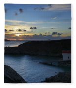 St Justinian Sunset Fleece Blanket