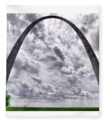 St Louis Arch Fleece Blanket
