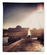 St. Louis Art Museum At Grand Basin Fleece Blanket