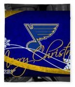 St Louis Blues Christmas Fleece Blanket