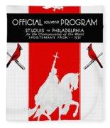 St. Louis Cardinals 1931 World Series Program Fleece Blanket