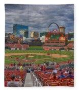 St Louis Cardinals Busch Stadium Dsc06139 Fleece Blanket
