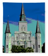 St Louis Cathedral 3 Fleece Blanket