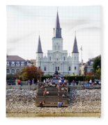 St Louis Cathedral Fleece Blanket