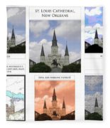 St Louis Cathedral In New Orleans Fleece Blanket