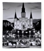 St. Louis Cathedral New Orleans Fleece Blanket