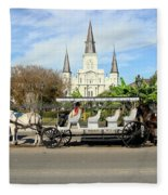 St Louis Cathedral New Orleans Fleece Blanket