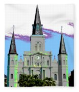 St Louis Cathedral Poster 2 Fleece Blanket