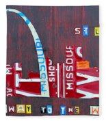 St. Louis Skyline License Plate Art Fleece Blanket
