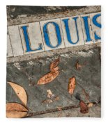 St Louis Street Tiles In New Orleans Fleece Blanket