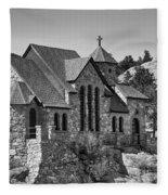 St Malo Chapel On The Rock Colorado Bw Fleece Blanket