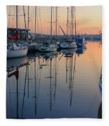 St. Malo Sunrise Brittany France Fleece Blanket