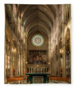 St. Mary Cathedral Basilica Of The Assumption Fleece Blanket