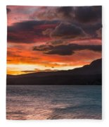 St. Mary Lake Dawn 2 Fleece Blanket