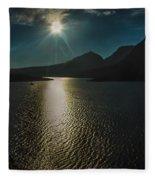 St Mary Lake Fleece Blanket