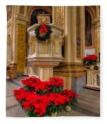 St. Mary Of The Angels Christmas Lectern Fleece Blanket