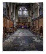 St Mary The Virgin Church - Choir And Altar Fleece Blanket