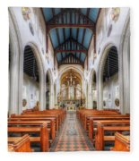 St Mary's Catholic Church - The Nave Fleece Blanket