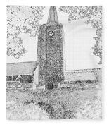 St Marys Church Tenby Fleece Blanket