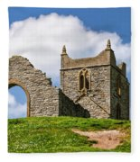 St Michael's Church - Burrow Mump 4 Fleece Blanket