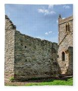 St Michael's Church - Burrow Mump 5 Fleece Blanket