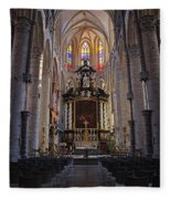 St Nicholas Church Ghent Fleece Blanket