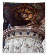 St Nicholas Church Pulpit In Amsterdam Fleece Blanket