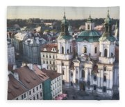 St Nicholas Prague Fleece Blanket