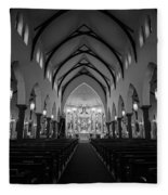 St Patricks Cathedral Fort Worth Fleece Blanket