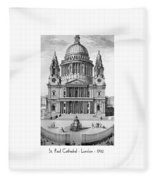 St. Paul Cathedral - London - 1792 Fleece Blanket