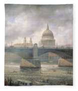 St. Paul's Cathedral From The Southwark Bank Fleece Blanket