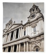 St Pauls Cathedral In London Uk Fleece Blanket