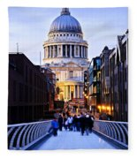 St. Paul's Cathedral London At Dusk Fleece Blanket