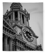 St Pauls Clock Tower Fleece Blanket