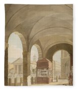 St. Pauls, Covent Garden C.1765-75 Graphite And Wc On Paper Fleece Blanket
