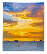St. Pete Beach Sunset Fleece Blanket