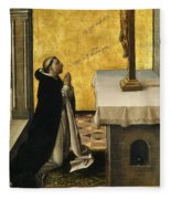 St. Peter Martyr In Prayer Fleece Blanket
