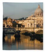 St Peter Morning Glow - Impressions Of Rome Fleece Blanket