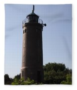 St. Peter-ording Lighthouse - North Sea - Germany Fleece Blanket