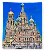St Petersburg Church Fleece Blanket