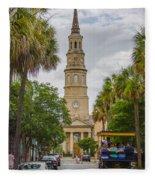 St. Philip's Episcopal Church Charleston Sc Fleece Blanket