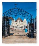 St Roch's Cemetery Fleece Blanket