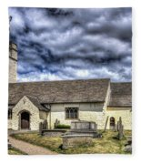 St Sannans Church Bedwellty 3 Fleece Blanket