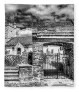 St Sannans Church Bedwellty 4 Mono Fleece Blanket