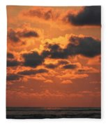 St Simons And Sea Island Sunrise Fleece Blanket