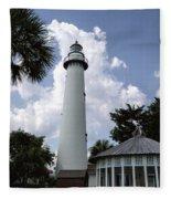 St. Simon's Island Georgia Lighthouse Fleece Blanket