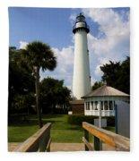 St. Simon's Island Georgia Lighthouse Painted Fleece Blanket