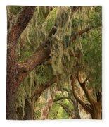 St Simons Island Oaks Fleece Blanket