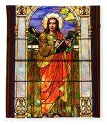 St. Stan's Stained Glass Fleece Blanket