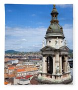 St Stephen's Basilica Bell Tower In Budapest Fleece Blanket
